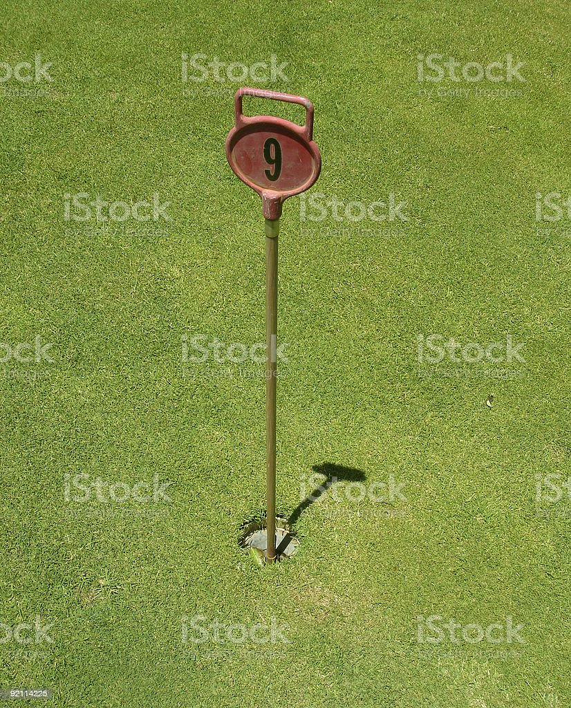 Golf putting green hole royalty-free stock photo
