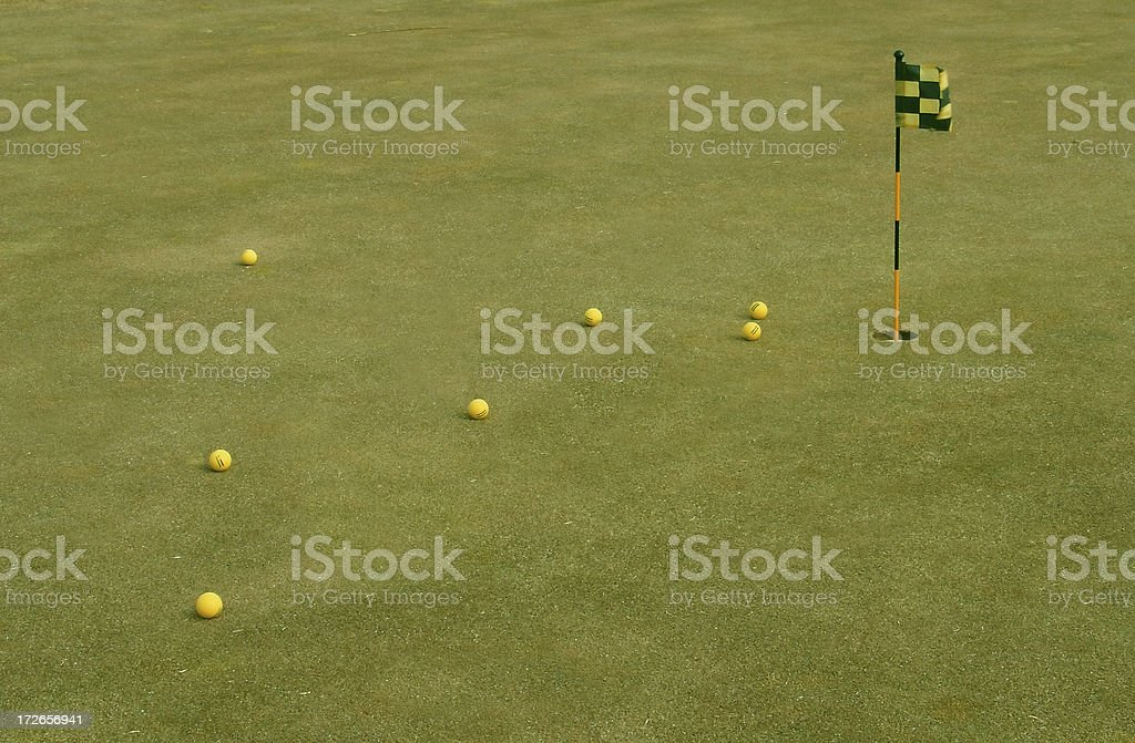 Golf putting practice royalty-free stock photo
