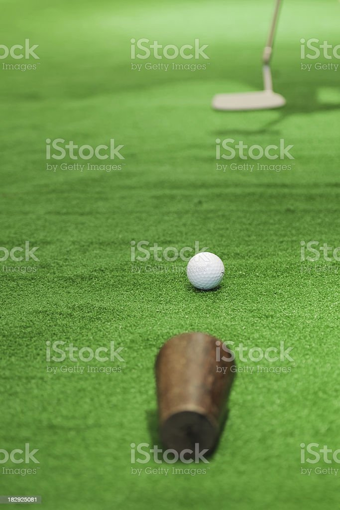 Golf Putting - XLarge royalty-free stock photo