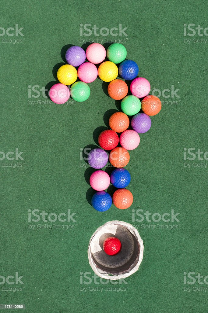 Golf Question Mark royalty-free stock photo