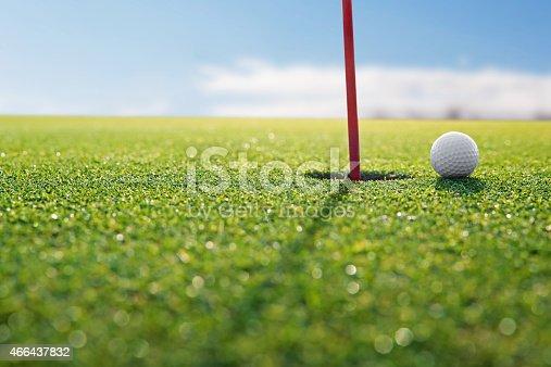 istock golf red hole 466437832