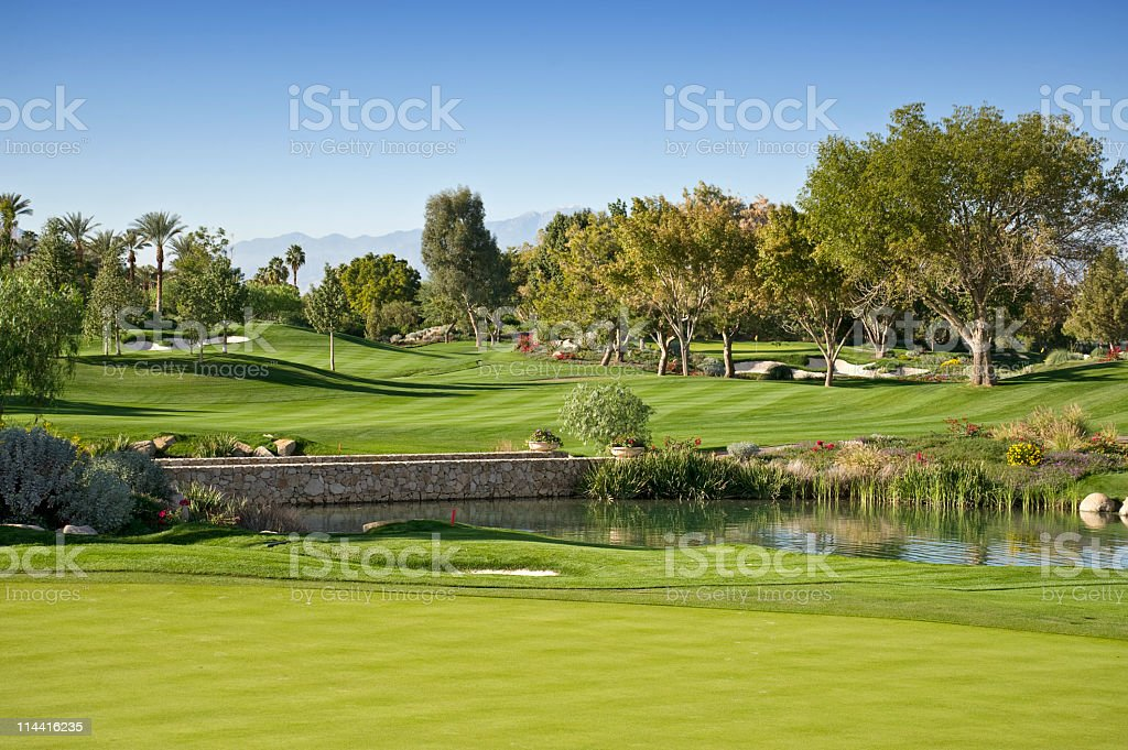 Golf Scenic stock photo