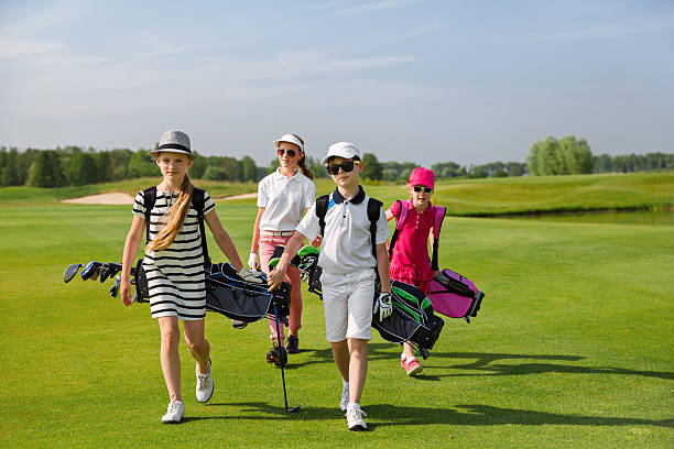 golf school stock photo