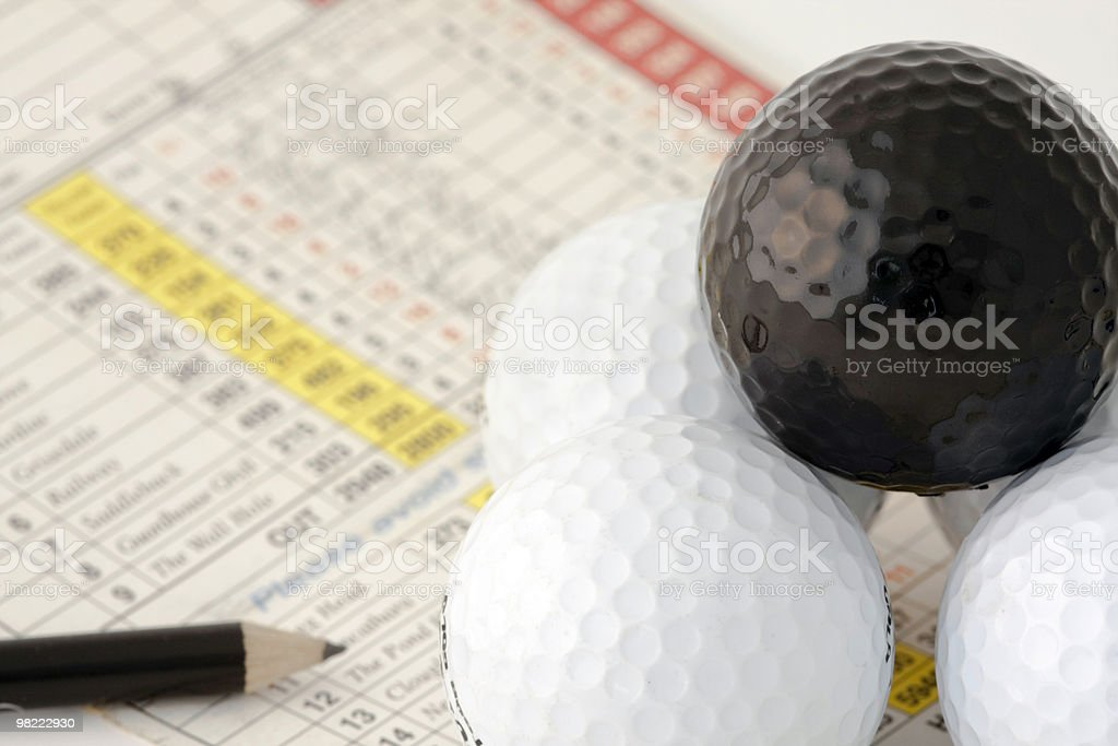 Golf Score Card and Accessories royalty-free stock photo