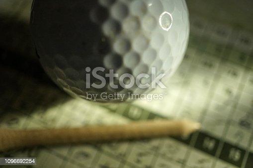 close up shot of golf score card