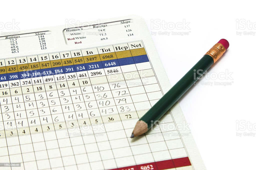 Golf Scorecard stock photo