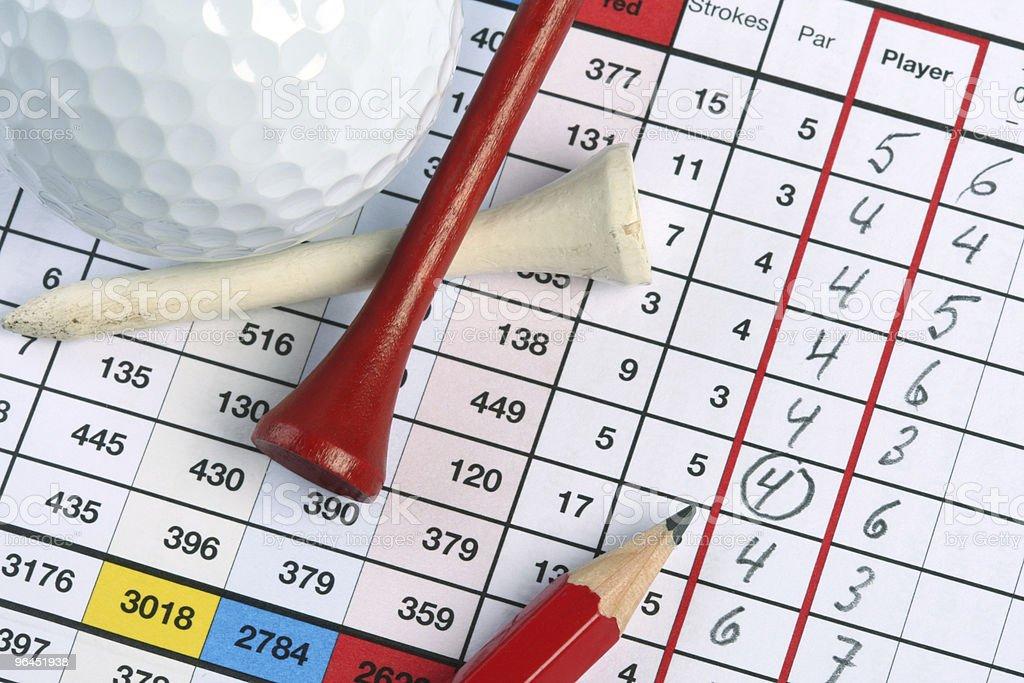 Golf Scorecard with Birdie stock photo