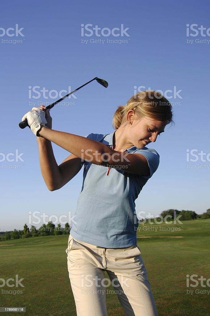 Golf serie royalty-free stock photo