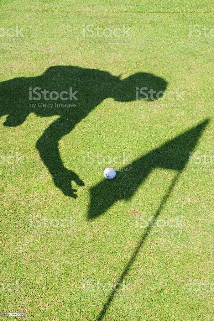 Golf Shadow royalty-free stock photo