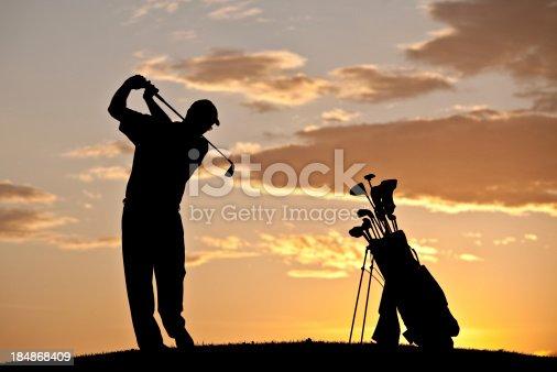 istock Golf Silhouette 184868409