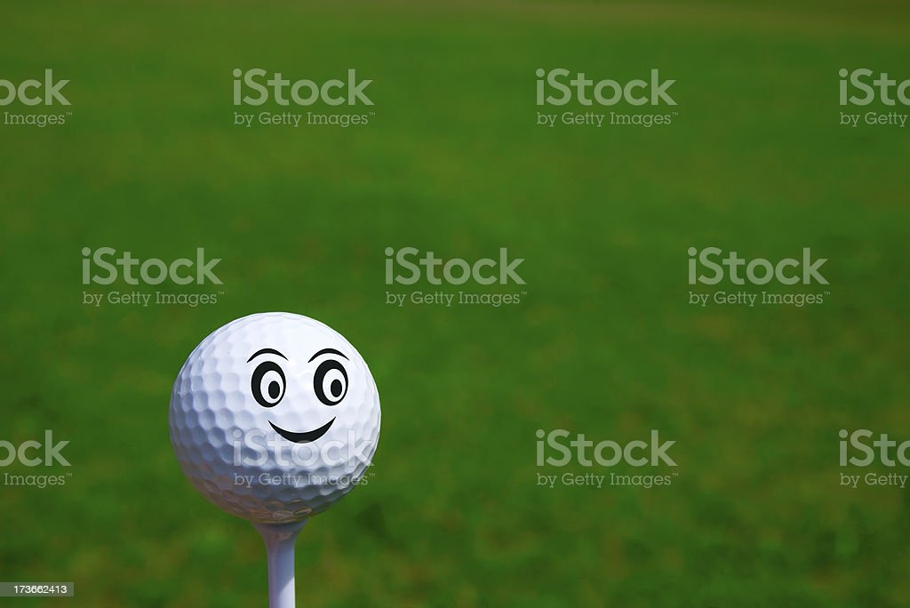Golf Smiley stock photo
