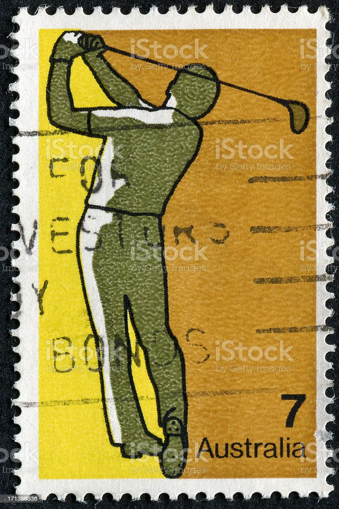 Golf Stamp royalty-free stock photo