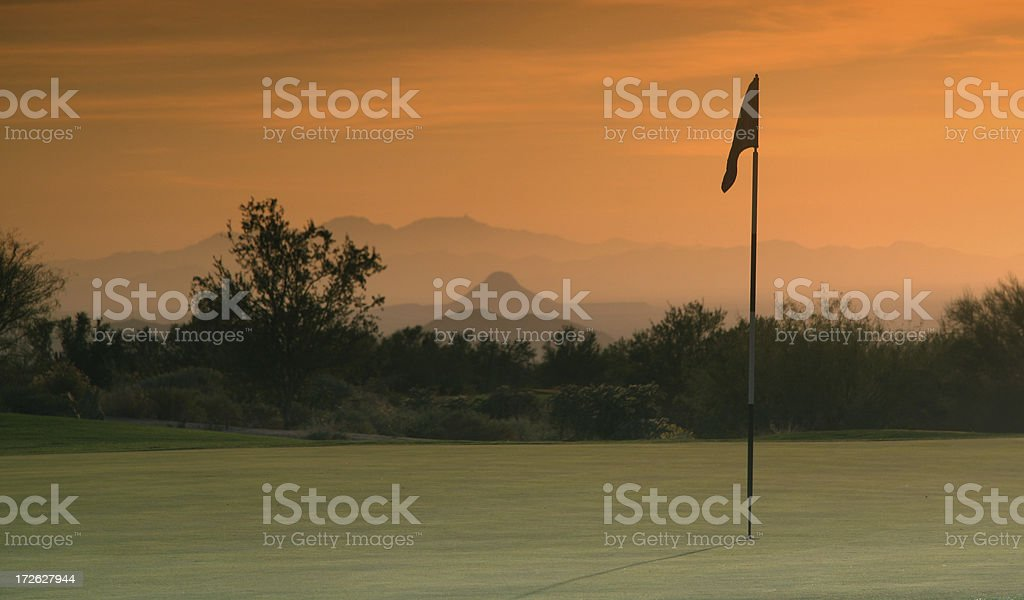 Golf Sunset royalty-free stock photo