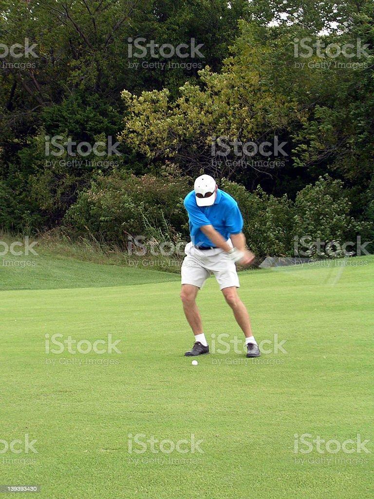 golf swing 2 royalty-free stock photo