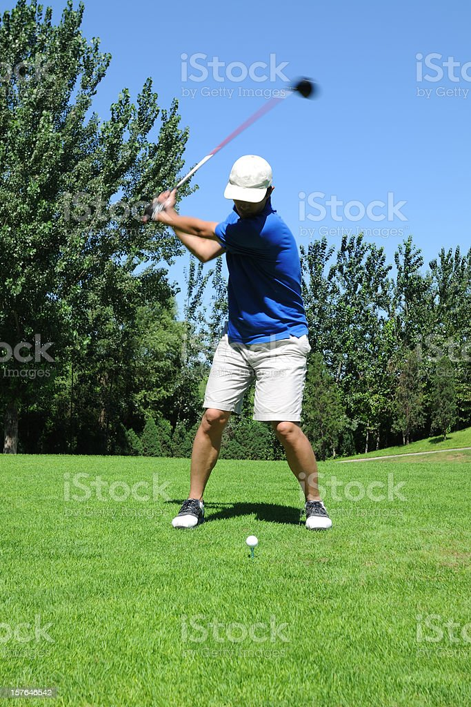 Golf Swing and Teeing Off - XLarge stock photo