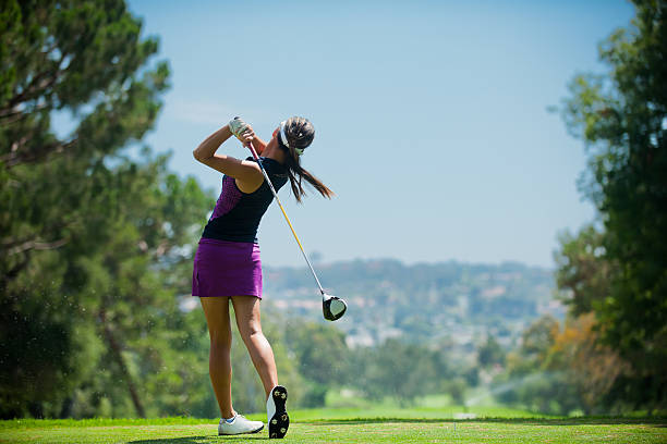 golf swing - golf stock photos and pictures