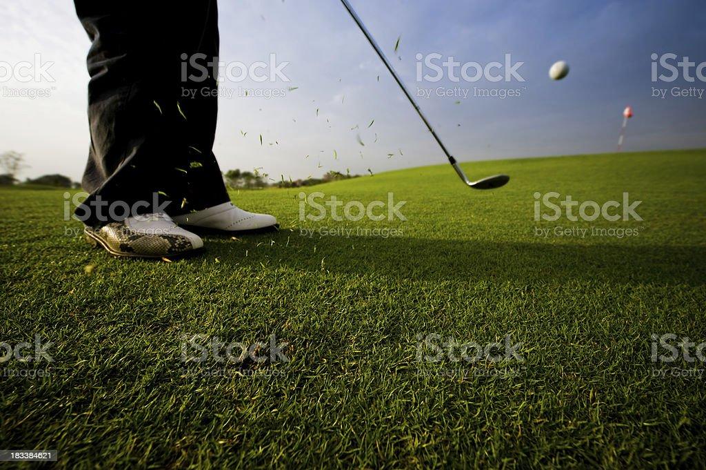 Golf swing royalty-free stock photo