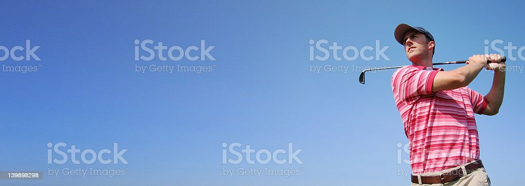 Golf Swing Wide royalty-free stock photo