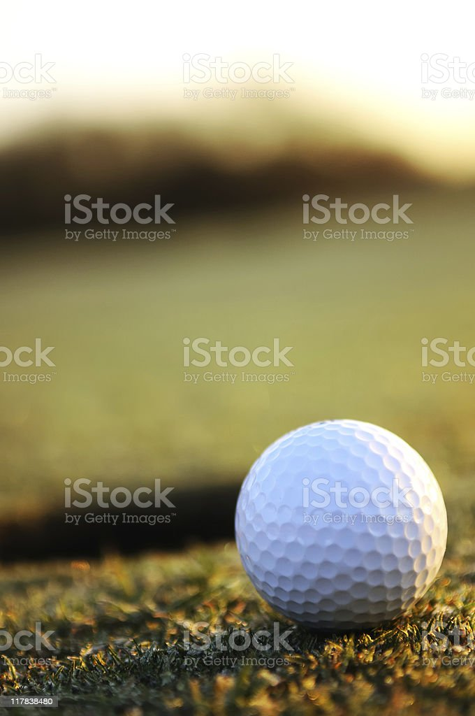 Golf Tap In at Sunrise royalty-free stock photo