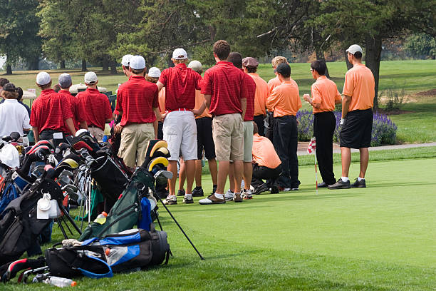 Golf - Teams Meet stock photo