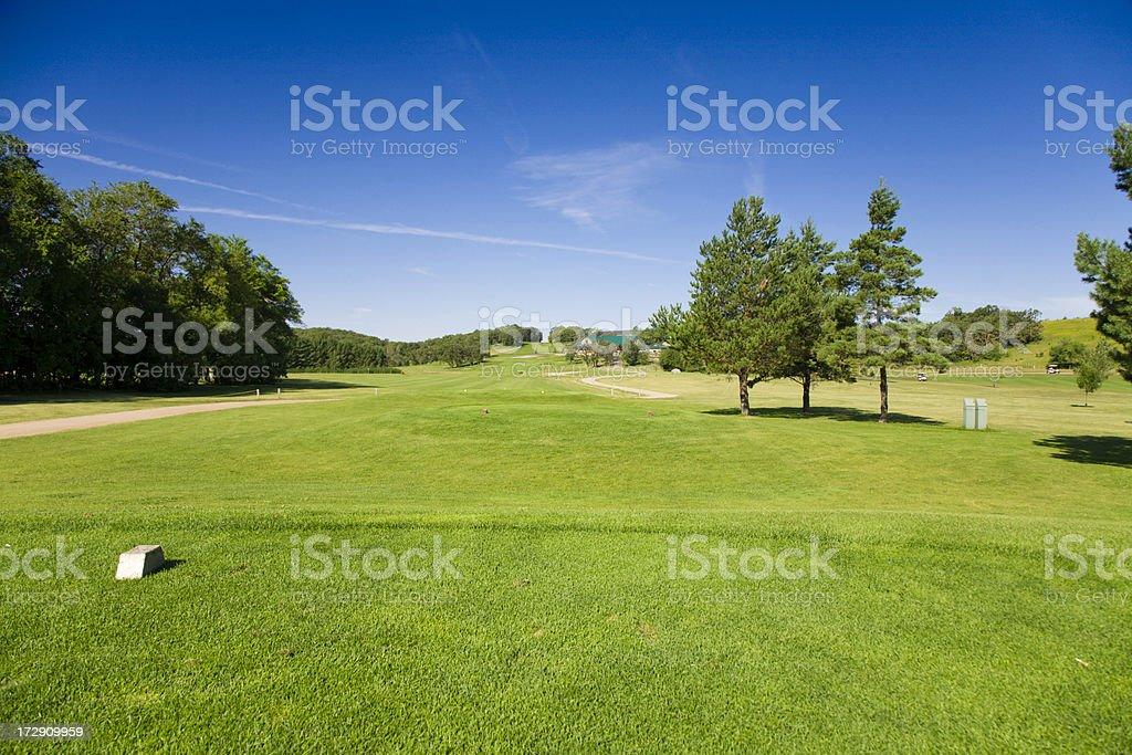 Golf Tee Box stock photo