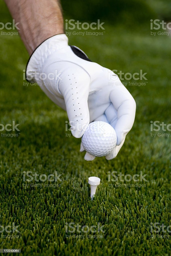 Golf - tee off royalty-free stock photo