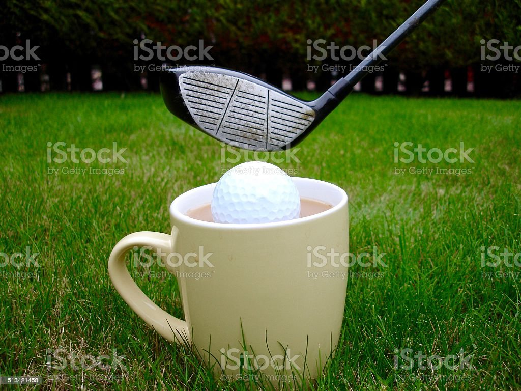 A metaphorical photograph on teeing off in game of golf. Image...