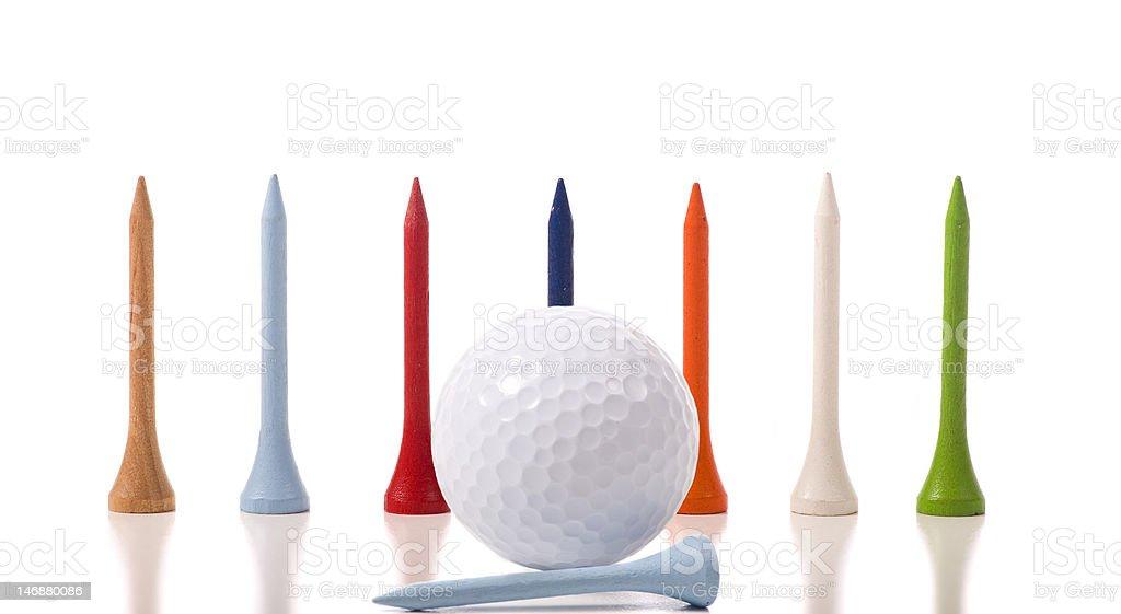 Golf Tees royalty-free stock photo
