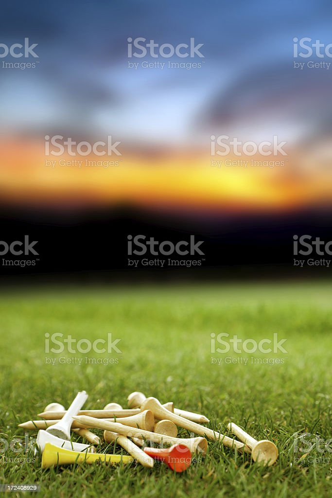 Golf tees royalty-free stock photo