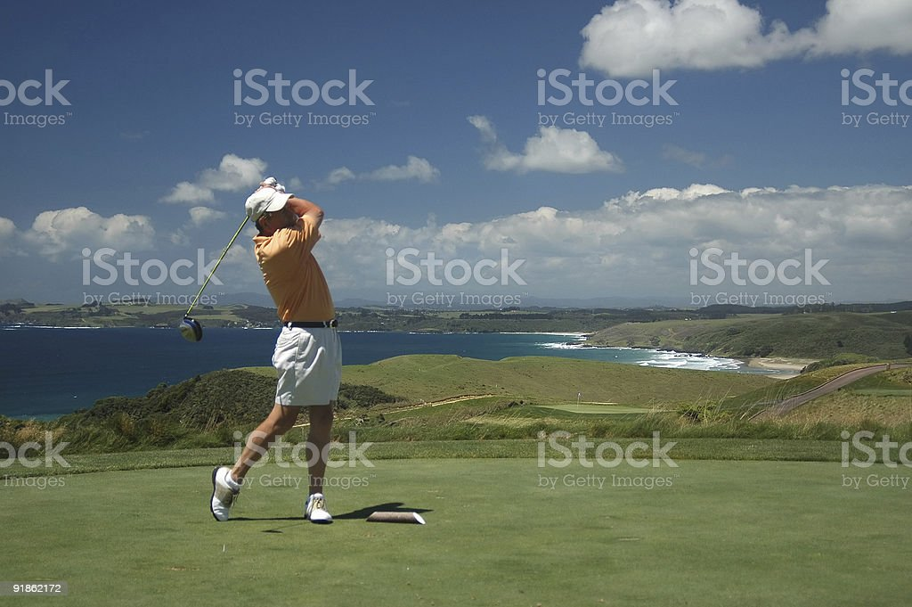 Golf - The Drive royalty-free stock photo