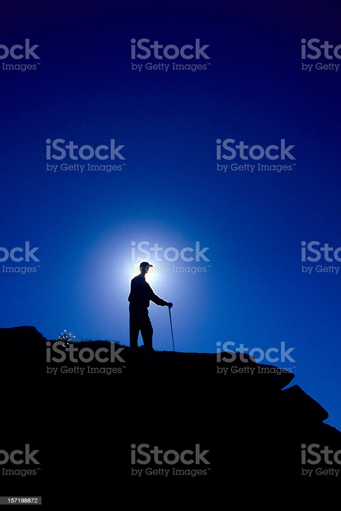 Golf thoughts royalty-free stock photo