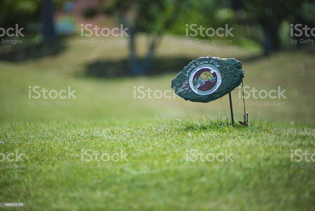 Golf T-off stock photo