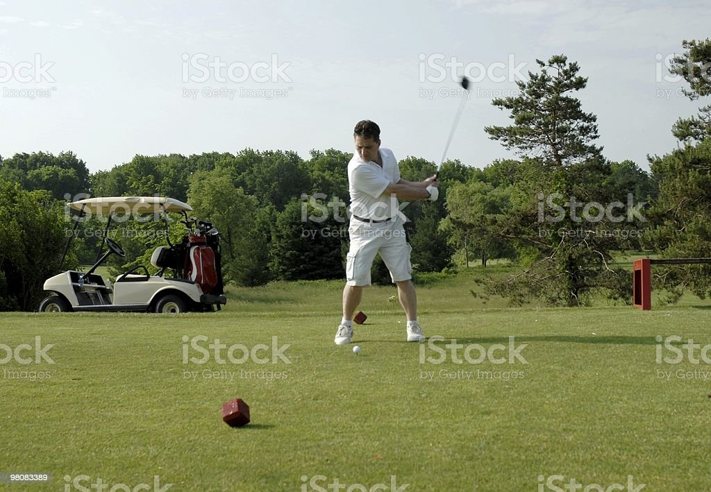 Golf T-off royalty-free stock photo