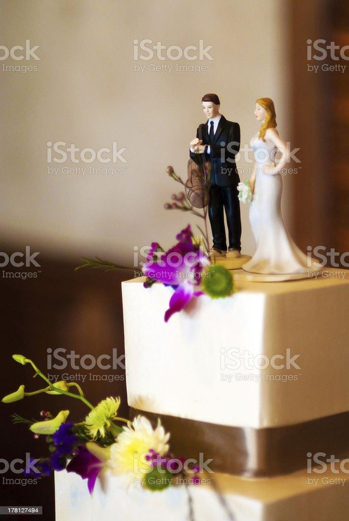Golf Wedding Cake Topper royalty-free stock photo