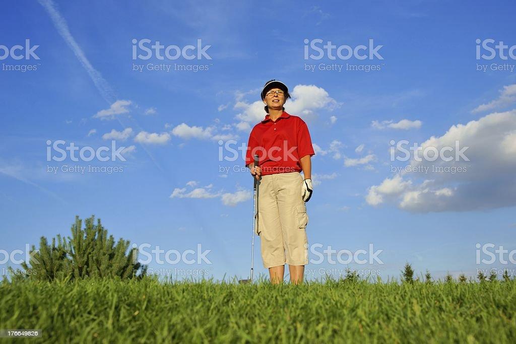 Golf mujer jugador de Golf foto de stock libre de derechos
