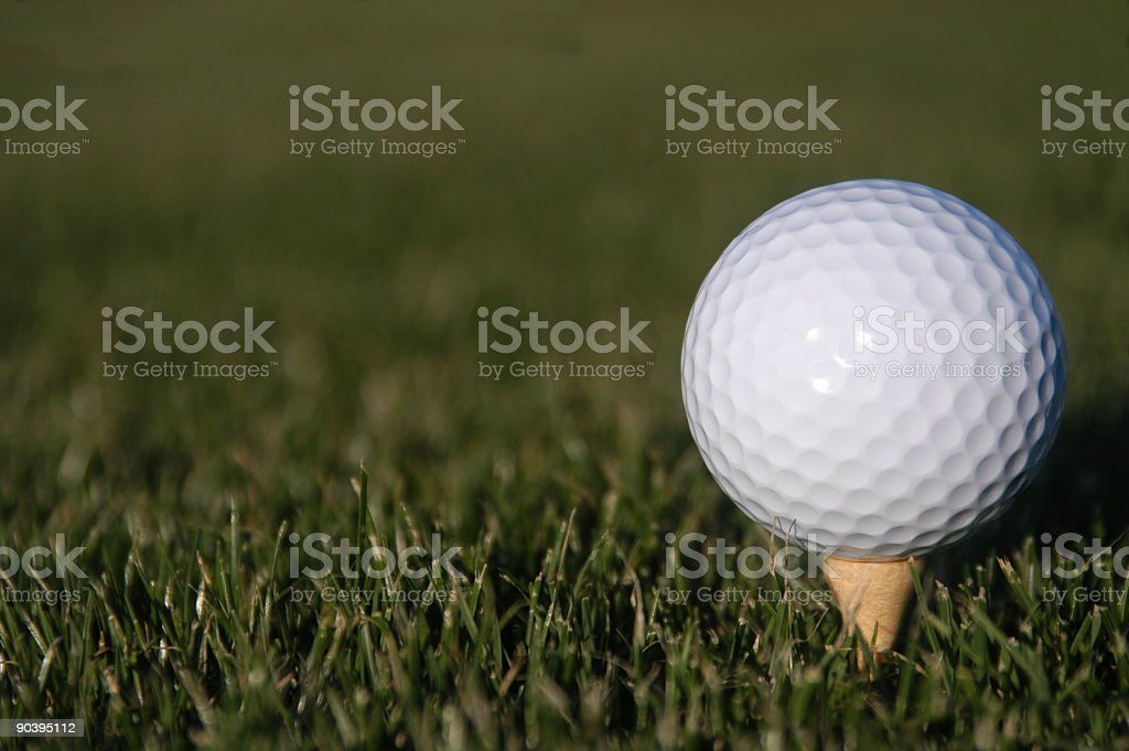 Golf17 - Ball on Tee royalty-free stock photo