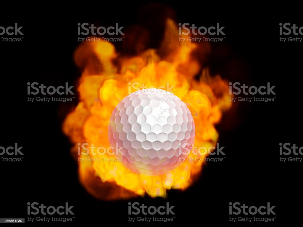 Golfball And Fireball Stock Photo Download Image Now Istock