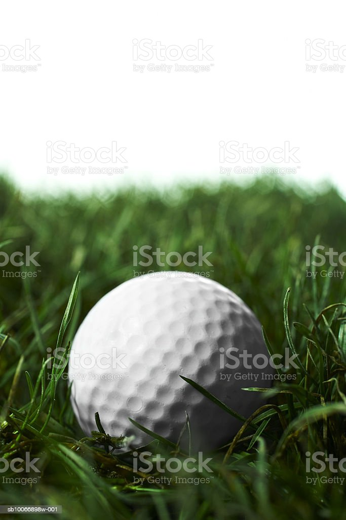 Golfball in erba foto stock royalty-free