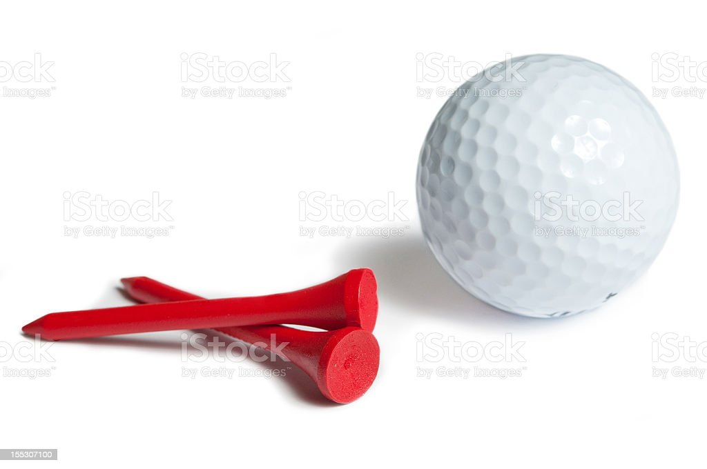 golfball on red tee royalty-free stock photo