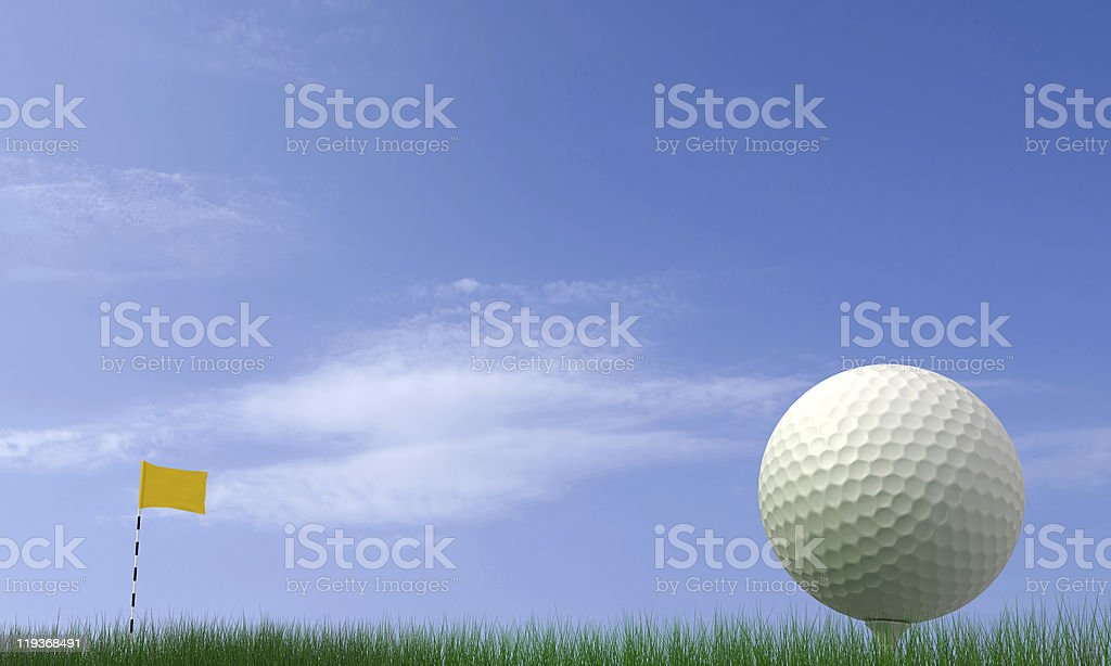 Golf-ball royalty-free stock photo