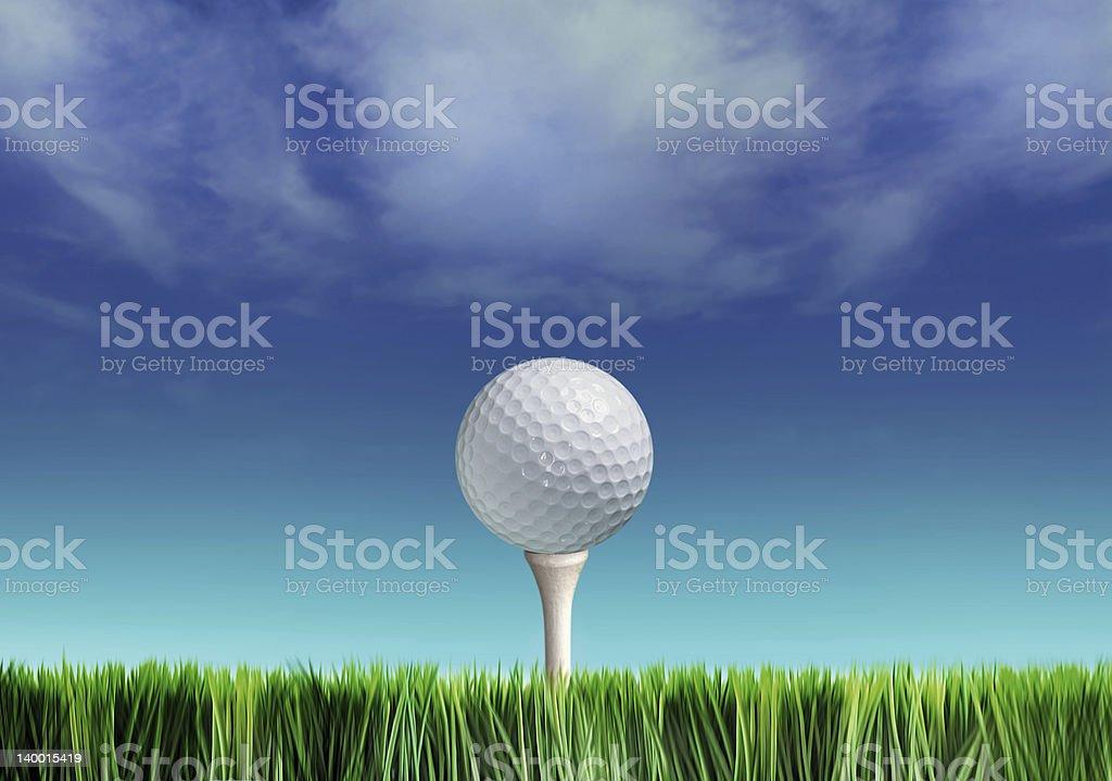 golf-ball stock photo