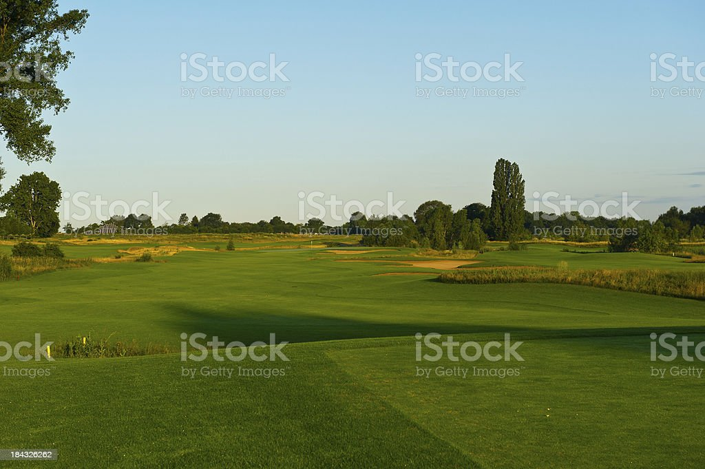 golfcourse in the morning royalty-free stock photo