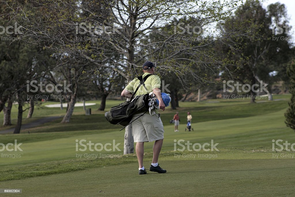 Golfer after game royalty-free stock photo