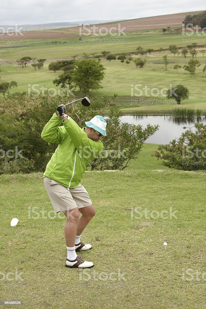 Golf movimento foto stock royalty-free