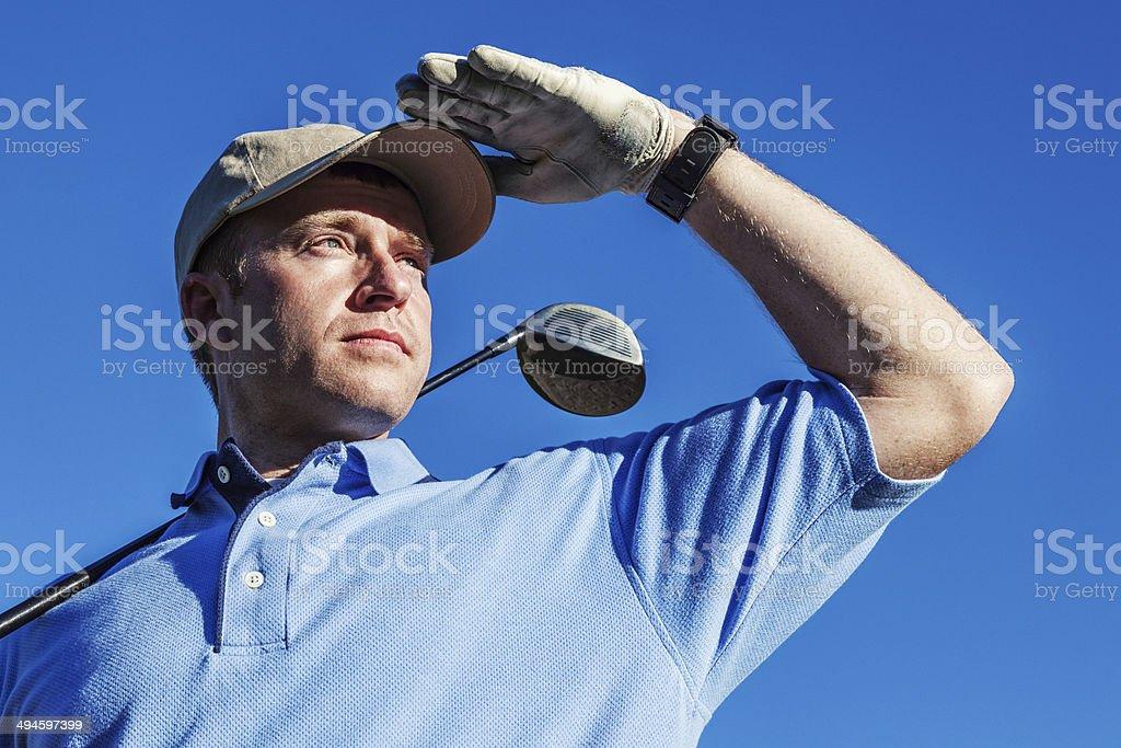 Golfer Closeup stock photo