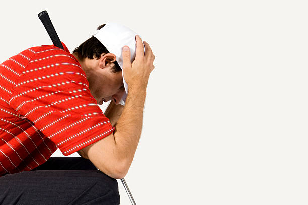 Golfer Disappointment stock photo