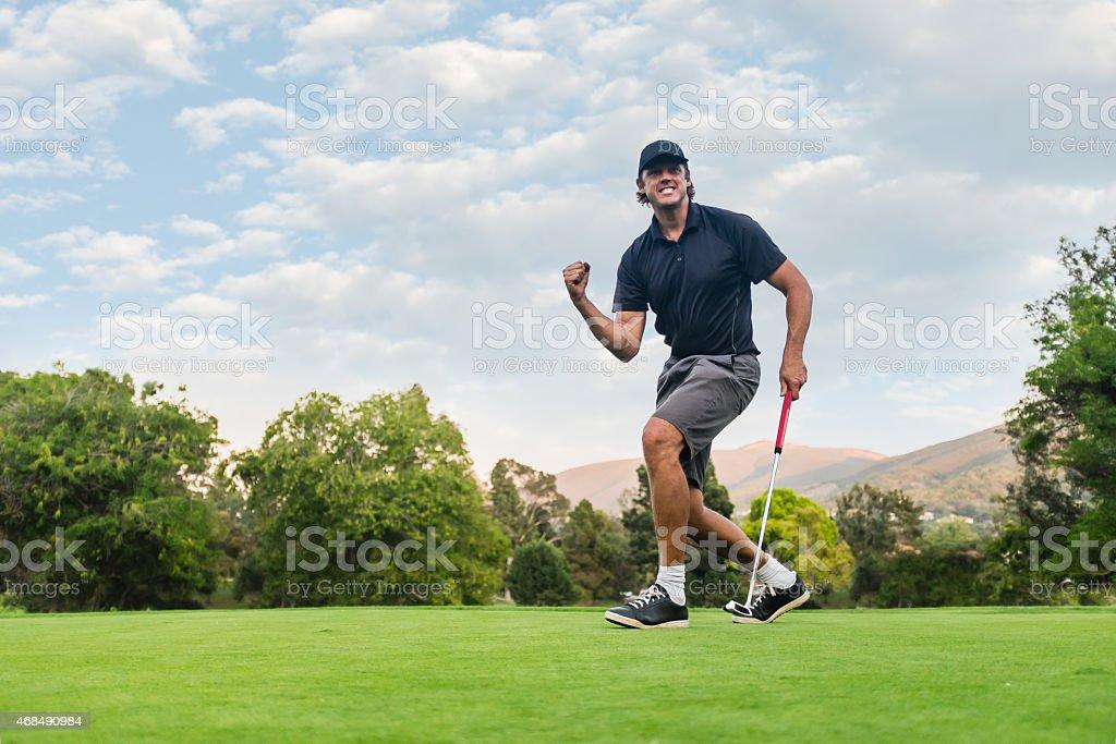 Golfer Fist Pump stock photo