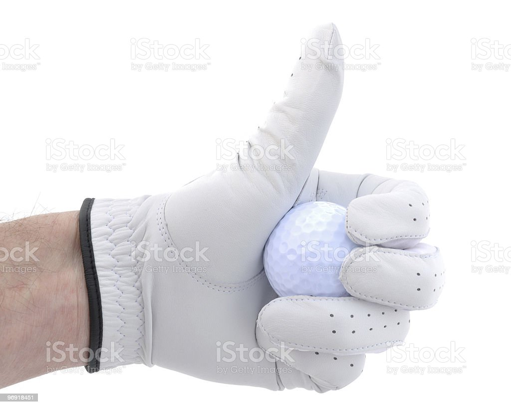 Golfer Giving Thumbs Up Sign royalty-free stock photo