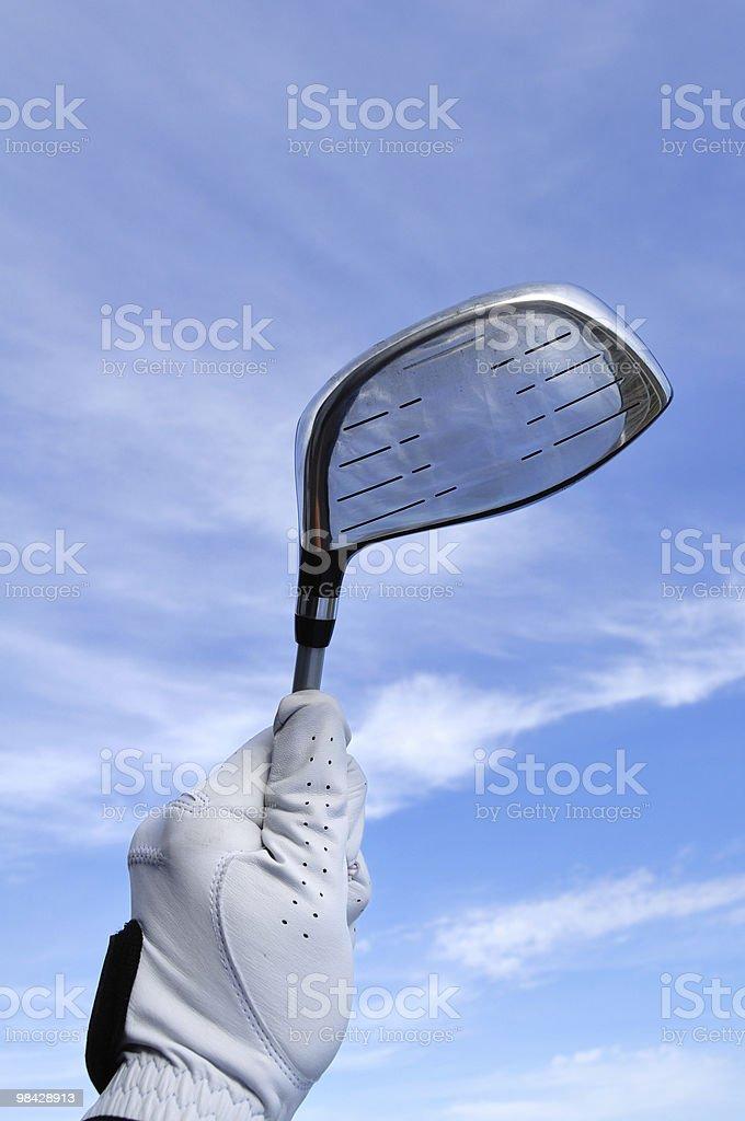 Golfista tenendo un Driver in metallo foto stock royalty-free