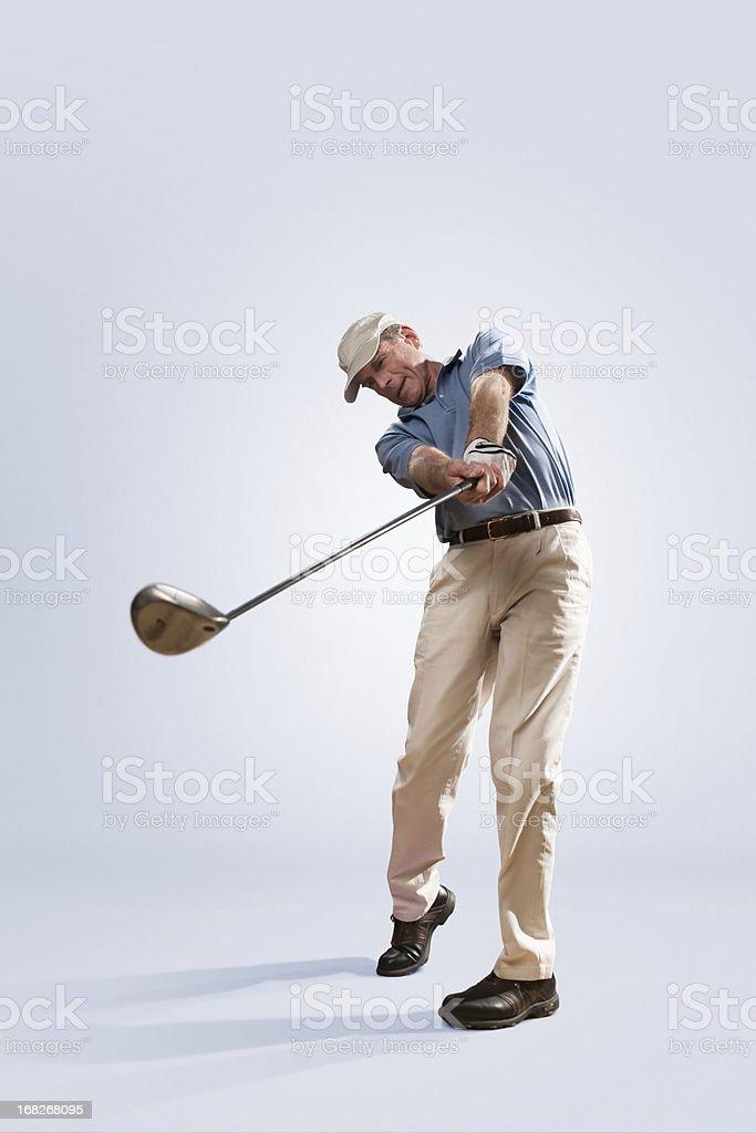 Golfer in Studio royalty-free stock photo
